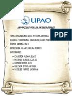 APLICACIONES DE INTEGRALES DEFINIDAS