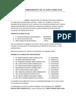 ACTA DE NOMBRAMIENTO DE LA JUNTA DIRECTIVA MIGUEL