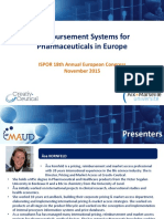 ISPOR Course_Final Presentation_For Reimbursement Systems for Pharmaceuticals in Europe.pptx