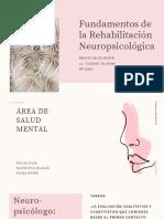 Fundamentos de la Rehabilitación Neuropsicológica
