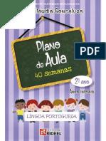 portugues  2 ano plano de aula 40 semanas