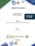 Unidad 2 Tarea 2 - Identificar los principios básicos de ingeniería de alimentos. Hector Arley Bautista-Ing Alimento