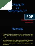 BEH SCIENCES Normalcy vs Abnormalcy