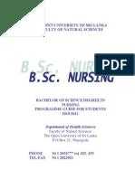 Bsc Nursing Prospectus