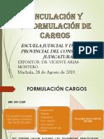 VINCULACION  Y  FORMULACION  DE  CARGOS-INFORMACION