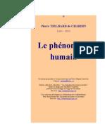 Pierre TEILHARD de CHARDIN  (1881 - 1955)  Le phénomène  humain