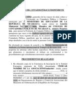 Modelo Certificación MINGOB 2019