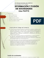 TRANSFORMACIÓN Y FUSIÓN DE SOCIEDADES