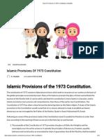 Islamic Provisions of 1973 Constitution _ StudyBix