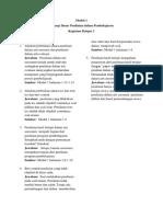 evaluasi  pembelajaran uraian modul 1