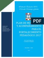 Plan Monitoreo y Acompañamiento para el fortalecimiento 28 03 2017 DJQT