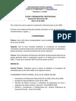 PLANEACIÓN Y ORGANIZACIÓN  INSTITUCIONAL 2020.docx