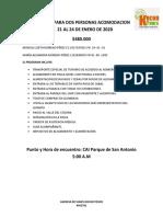 EJE CAFETERO  21 AL 24 DE ENERO DE 2020
