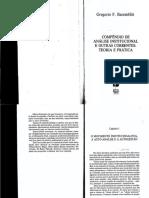 Baremblitt, G. Cap I - O MOVIMENTO INSTITUCIONALISTA, A AUTO-ANÁLISE E A AUTOGESTÃO Compêndio de Análise Institucional
