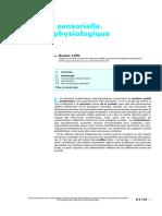 Biophysique sensorielle. Acoustique physiologique