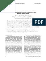 PBL Creative & Critical Thinking