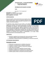 Modelo de informe para estudiantes con nee