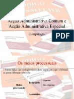 acção administrativa comum e especial