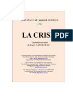 la_crise.Karl Marx et Friedrich Engels,. Traduction et notes de Roger Dangeville