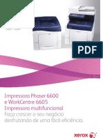 Folheto Xerox Phaser 6600 e Xerox WorkCentre 6605