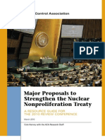 Proposals to Strengthen NPT