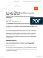 Getting Started With Project-Based Learning (Hint