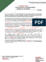 Nota publicación IV Convenio Único BOE