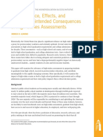 The Relevance, Effects, and Potential Unintended Consequences of High-Stakes Assessments