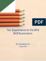 Tax Supplemental Reviewer - October 2019