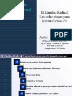 Kotter - 8 Pasos Para El Cambio Organizacional