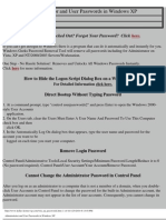 Administrator and User Passwords in Windows XP
