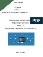 Iniciação ao curso Tecnico em informática