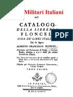 Libri Militari Italiani Nel Catalogo Della Biblioteca Floncel 1774