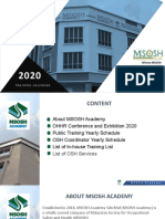 MSOSH Academy Training Calendar 2020 Revised 02012020