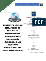 Plan estratégico del Gobierno regional de Cajamarca