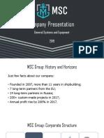 8. MSC Group presentation