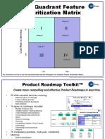 Four Quadrant Prioritization Matrix