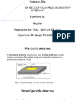 Reconfigurable Microstrip Antenna, types and their comparison