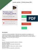 Fórmulas Y Tablas De Matemática Aplicada - 4ª Edición (Schaum) PDF - Descargar, Leer
