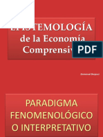 Epistemología de La Economía Comprensiva