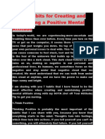 Seven Habits for Creating and Maintaining a Positive Mental Attitude