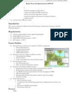 Radio Network Optimization_Overview