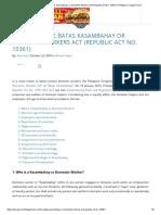 Primer on Batas Kasambahay