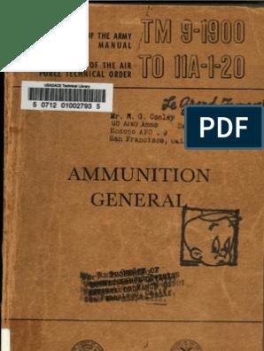 TM 9-1900 Ammunition, General-1956 | Shell (Projectile