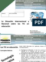 Análisis de la Situación Internacional y Nacional sobre las TIC en Educación
