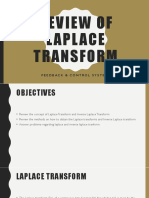 Review of laplace transform