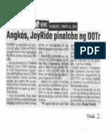 Abante, Jan. 23, 2020, Angkas, JoyRide pinalobo ng DOTr.pdf