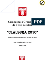 Bases Clausura Grand Prix 2010