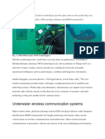 the wireless technologies for the safety and security of the deep sea