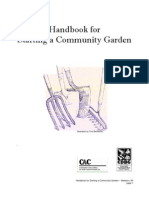 Handbook for Starting a New Community Garden - Community Action Coalition, Wisconsin